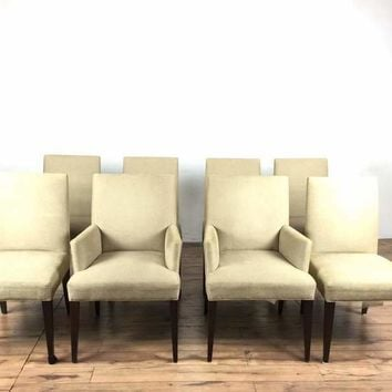 Group of Eight Contemporary Crate & Barrel Upholstered Chairs