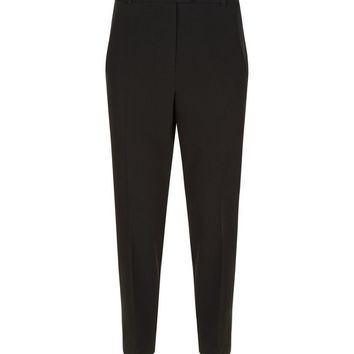Black Slim Leg Cropped Trousers | New Look