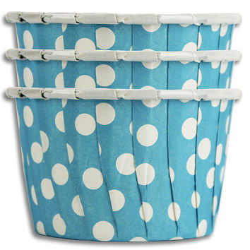 Aqua Blue Polka Dot Nut Cups
