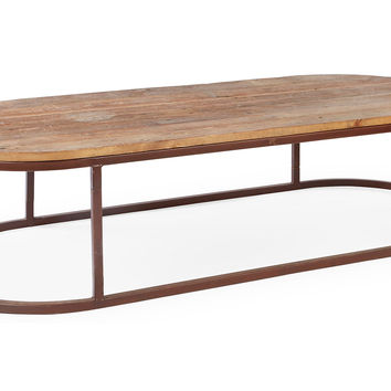 Avignon Oval Coffee Table, Rust, Cocktail Table