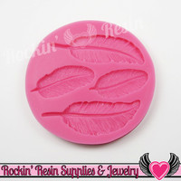 Feather SILICONE MOLD Right and Left Facing Food Grade Flexible