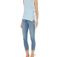 Derek Lam 10 Crosby Grommet Lace-Up Side Sleeveless Sweater at INTERMIX | Shop Now | Shop IntermixOnline.com