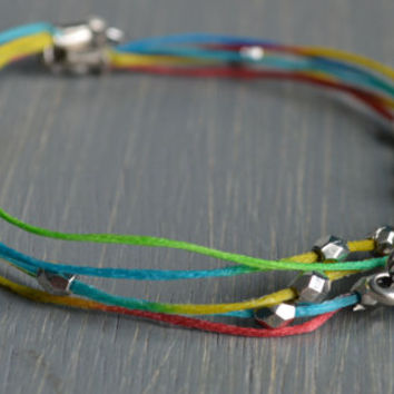 Fun + Colorful Elephant Anklet / Bracelet