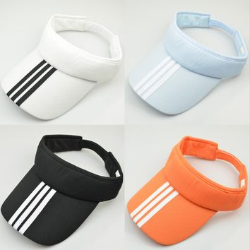 7 Colors Adjustable Unisex Women Men Summer Outdoor Sun Visor Hat Sport Golf Baseball Tennis Hat Cap