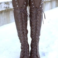 Chloe's Rebel Boot - Brown
