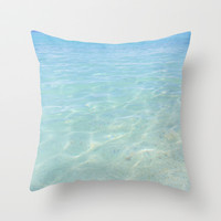Clear Waters Throw Pillow by AmeliaDarland