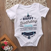 """Happy Birthday Daddy"" Onesuit"