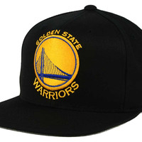Golden State Warriors Mitchell and Ness NBA XL Logo Snapback Cap