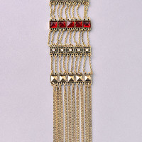Light But Loaded Necklace: Red