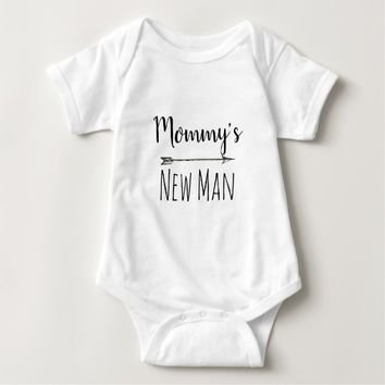 Mommy's New Man baby boy bodysuit