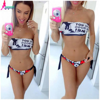 gagaopt 2016 Women Bra Sets High Quality Summer Underwear Sexy Woman Printed Cartoon Push Up Vintage Bras Brief Free Shipping