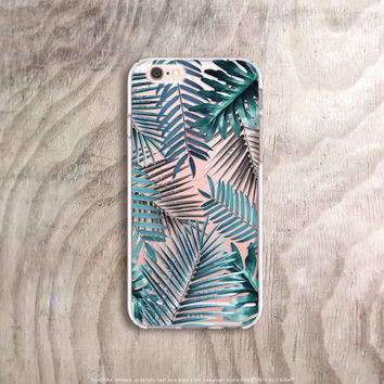 iPhone 6s Plus Case Clear Tropical iPhone Case Clear Summer iPhone 6s Case Clear Green iPhone 6s Case Samsung Note 5 Case Clear Palm Trees