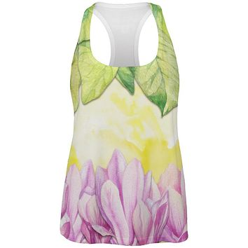 Mardi Gras French Quarter Magnolias at Sunrise All Over Womens Work Out Tank Top