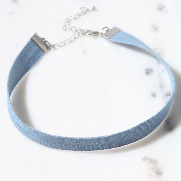 LA Hearts Denim Choker at PacSun.com