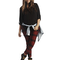 Soft Plaid Leggings | Wet Seal+