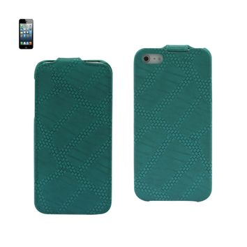 FITTING CASE APPLE IPHONE 5 HORSE SKIN PATTERN BLUE