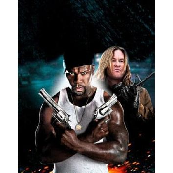 Gun 50 Cent Val Kilmer Movie poster Metal Sign Wall Art 8in x 12in