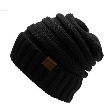 Winter Bad Hair Day Warm Unisex Knitted Ski Crochet Slouchy Hat Cap for Women Men Beanies Hip Hop Hats Hot