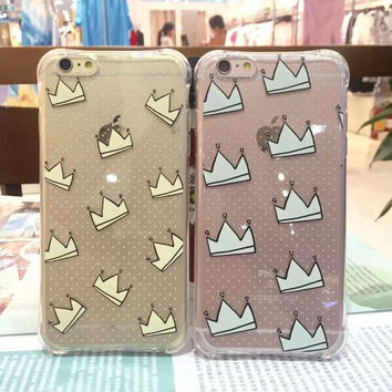 Hot Deal On Sale Hot Sale Cute Stylish Iphone 6/6s Crown Iphone Couple Apple Phone Case [6034114881]