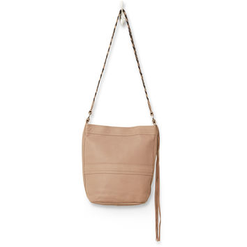 TOMS Mocha Pebble Leather Jetset Bucket