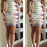 Tie-Dye Sweet Body Bandage Dress