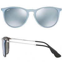 NEW Rayban Erika Color Mix sunglasses RB4171F 631930 57 Silver w/Silver Mirror