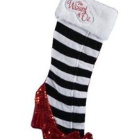 Kurt Adler 20-Inch Wizard of Oz Ruby Slipper Applique Stocking