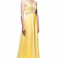 Kari Chang KC13 A-line Yellow 2015 Prom Dress