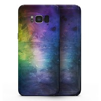 Dark 9711 Absorbed Watercolor Texture - Samsung Galaxy S8 Full-Body Skin Kit