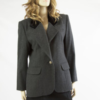Women's Vintage Givenency Grey Wool and Cashmere Blazer Size 42