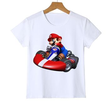 Super Mario party nes switch  Wario Boy Girl Baby t shirt 3D  bros Kid's t shirts cute game fans daily t shirts high quality game gift Z37-9 AT_80_8
