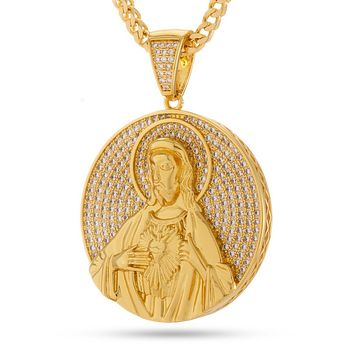 The Sacred Heart Jesus Medallion Necklace