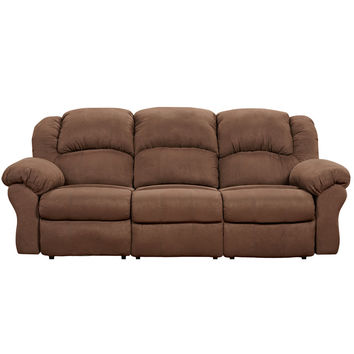 Exceptional Designs Aruba Chocolate Microfiber Reclining Sofa