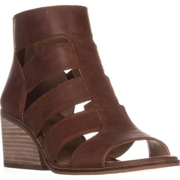 Lucky Brand Sortia Caged Sandals, Rye, 9.5 US / 39.5 EU