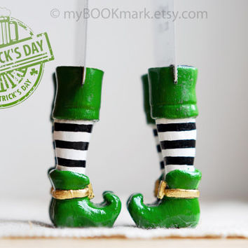 Leprechaun book markers. Set of 2. Irish present . by MyBookmark