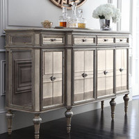 """Dresden"" Four-Door Mirrored Console - Horchow"