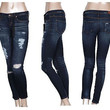 Slim Fit Stretch Skinny Jeans Dark Wash Faded Slim Denim Pants Sizes 1-13