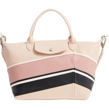 Longchamp Small Le Pliage Cuir - Chevron Leather Tote | Nordstrom