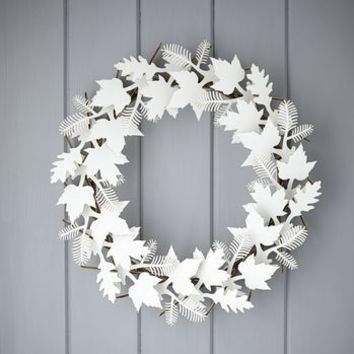 cardboard leaf wreath by rastall and daughters | notonthehighstreet.com