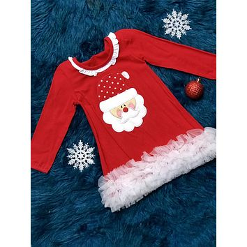 Christmas Red Santa TuTu Dress