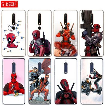 silicone cover phone case for Nokia 5 3 6 7 PLUS 8 9 /Nokia 6.1 5.1 3.1 2.1 6 2018 Super Cool Marvel Deadpool