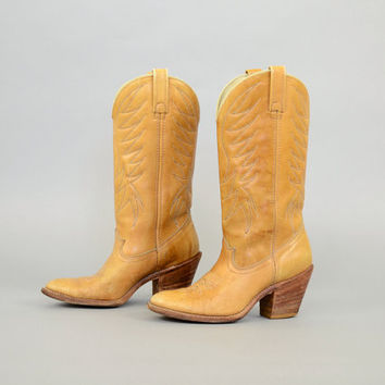 70's DINGO Leather Cowboy Boots