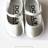 DOLLY by Le Petit Tom ® MARY JANES 1M silver