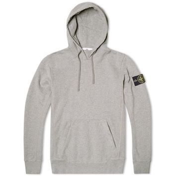 Stone Island Garment Dyed Cotton Fleece Pop Over Hoody