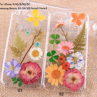 Pressed Flower iPhone 5 case, iPhone 5s case, iPhone 5c case, iPhone 4s case, Galaxy S4 case, Galaxy S3 S5, Note2, Note3, Real Flowers-109