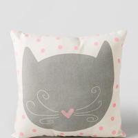 Pink Polka Dot Kitten Pillow
