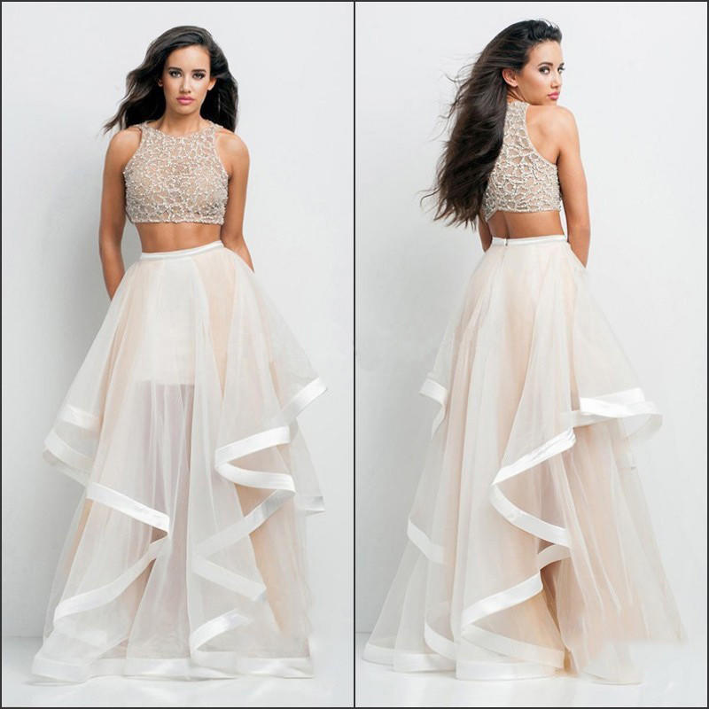 Champagne Two Piece Prom Dresses 2015 from Pepper Berry  8c4d58912