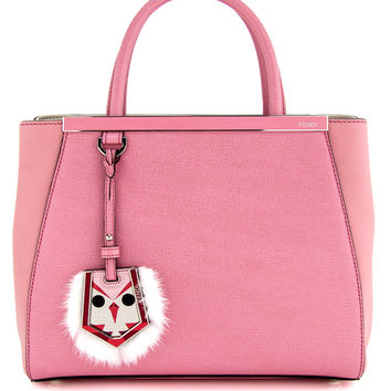 Fendi Pink Petite 2Jours Monster Tag Shopping Tote