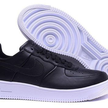 Nike Air Force 1 Ultraforce Lthr Black For Women Men Running Sport Casual Shoes Sneakers