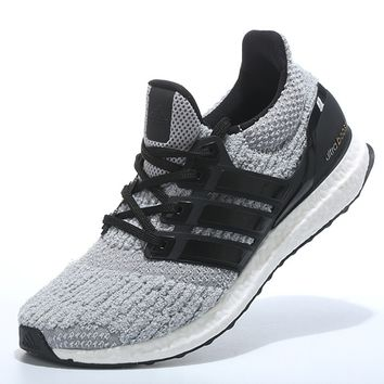 "Women ""Adidas"" Boost Fashion Trending Grey Black Leisure Running Sports Shoes"